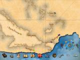 Sid Meier's Pirates! Windows The world map shows the many islands of the Caribbean