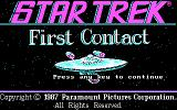Star Trek: First Contact DOS Title screen