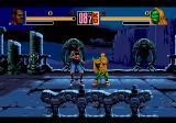Shaq Fu Genesis Eerie gargoyle castle at night