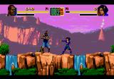 Shaq Fu Genesis Fighting near waterfalls