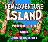 New Adventure Island TurboGrafx-16 Title