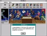 Microsoft Encarta (Included game) Windows 3.x Encarta 1994: The player has reached the end of the first level. This is followed by a MindMaze Crazy and then the next level starts