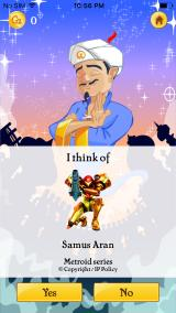 Akinator iPhone THAT'S the correct answer!