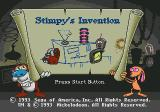 The Ren & Stimpy Show: Stimpy's Invention Genesis Title screen