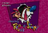 The Ren & Stimpy Show: Stimpy's Invention Genesis Wacky main menu
