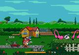The Ren & Stimpy Show: Stimpy's Invention Genesis Small houses, pink flamingos...