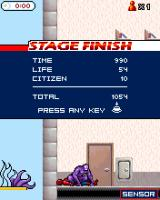Ultimate Spider-Man J2ME Stage completed when Spider-Man has been defeated