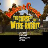 Wallace & Gromit: The Curse of the Were-Rabbit PlayStation 2 The main menu follows the title screen<br>In the background of both the camera pans to the right showing the village of Tottington