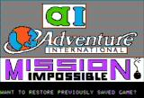 Scott Adams' Graphic Adventure #3: Secret Mission Apple II Title Screen