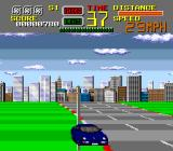 Chase H.Q. TurboGrafx-16 Crashed into a pole