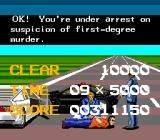 Chase H.Q. TurboGrafx-16 Arrest screen