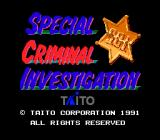 Chase H.Q. II: Special Criminal Investigation TurboGrafx-16 Title