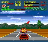 Chase H.Q. II: Special Criminal Investigation TurboGrafx-16 Set his car on fire