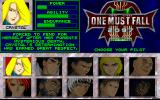 One Must Fall 2097 DOS Choose a character