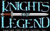 Knights of Legend DOS Title screen