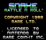 Snake Rattle N Roll NES Title screen