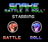 Snake Rattle N Roll NES The heroes of the game