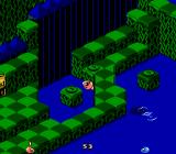 Snake Rattle N Roll NES Stay in the water too long and the shark will come to get you