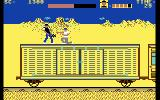 Express Raider Commodore 64 A fight on top of the train