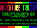Adventure Trilogy TRS-80 CoCo Title screen