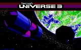 Universe 3 DOS Title screen