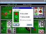 Boxcars Casino Windows 3.x There are three Craps tables. The player is only carrying $50 so the high value table is not offered
