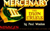 Mercenary III: The Dion Crisis Amiga Title screen