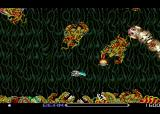 R-Type TurboGrafx-16 The second level, with a giant snake thing.