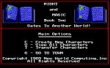 Might and Magic II: Gates to Another World DOS Main Options