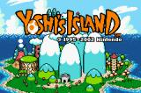 Yoshi's Island: Super Mario Advance 3 Game Boy Advance Title Screen