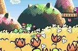 Yoshi's Island: Super Mario Advance 3 Game Boy Advance Yoshi swallows various enemies and makes eggs out of them.