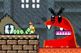 Yoshi's Island: Super Mario Advance 3 Game Boy Advance Despite having a large mouth, this guy's not overly fond of eggs.