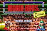 Yoshi's Island: Super Mario Advance 3 Game Boy Advance Title Screen: Mario Bros. Classic