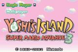 Yoshi's Island: Super Mario Advance 3 Game Boy Advance The First Menu