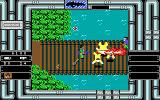 Heavy Barrel DOS Using a flame thrower to cross the bridge (EGA)