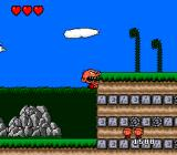Bonk's Adventure TurboGrafx-16 Clinging onto the wall