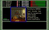 The Dark Heart of Uukrul DOS One of the many Sanctuaries: here, the party can rest, gain level, or stash objects