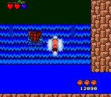 Bonk's Adventure TurboGrafx-16 Bonk is going up a waterfall
