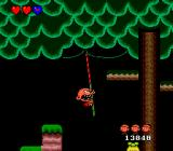Bonk's Adventure TurboGrafx-16 Bonk is swinging on a vine