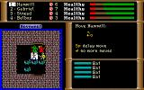 The Dark Heart of Uukrul DOS The combat screen