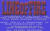 Line of Fire Commodore 64 Title