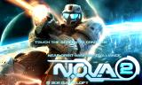 N.O.V.A. 2: Near Orbit Vanguard Alliance Android Title screen
