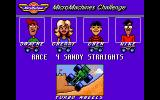 Micro Machines DOS Next race is the sandy straights!