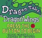 Dragon Tales: Dragon Wings Game Boy Color Title screen.