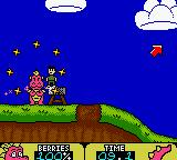 Dragon Tales: Dragon Wings Game Boy Color Objects can be picked up, like children and rocks.