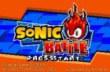 Sonic Battle Game Boy Advance Title Screen