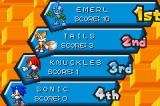 Sonic Battle Game Boy Advance Challenge Mode Results