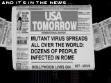 Plague DOS Intro: The virus is spreading worldwide!