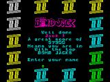 Bomb Jack II ZX Spectrum Entering highscore