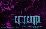 Catacomb DOS Graphics mode selection / Start screen (CGA)